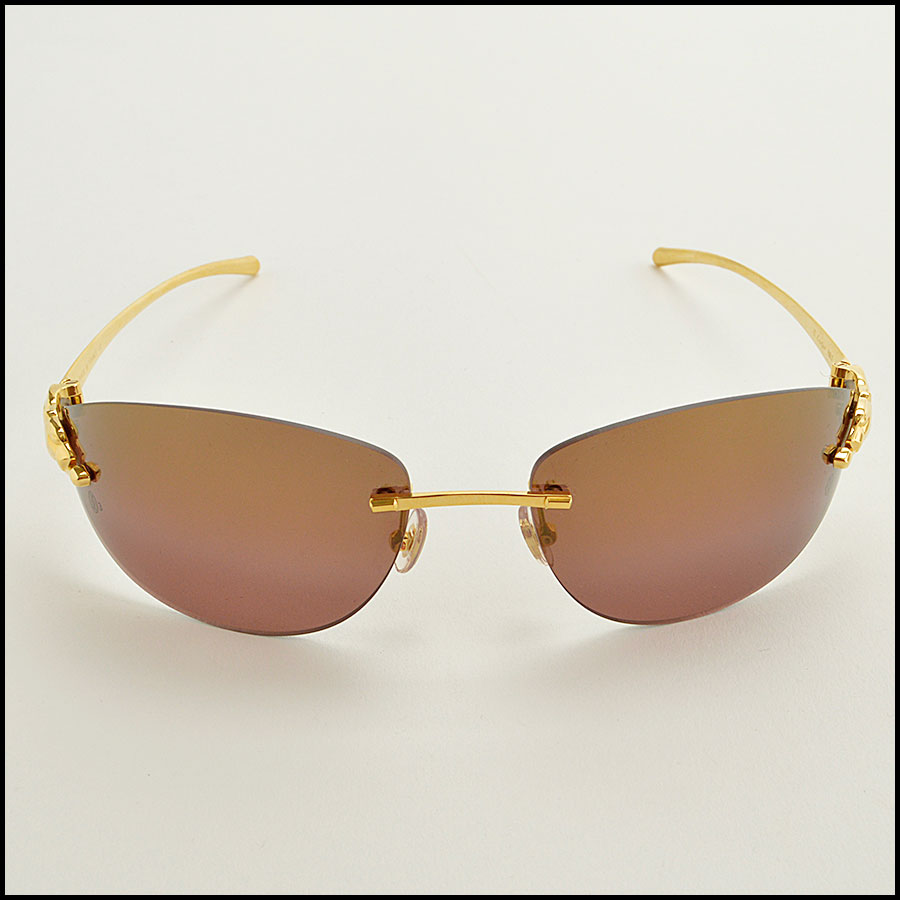 RDC 8386 Cartier Luxe Gold Panthere Sunglasses