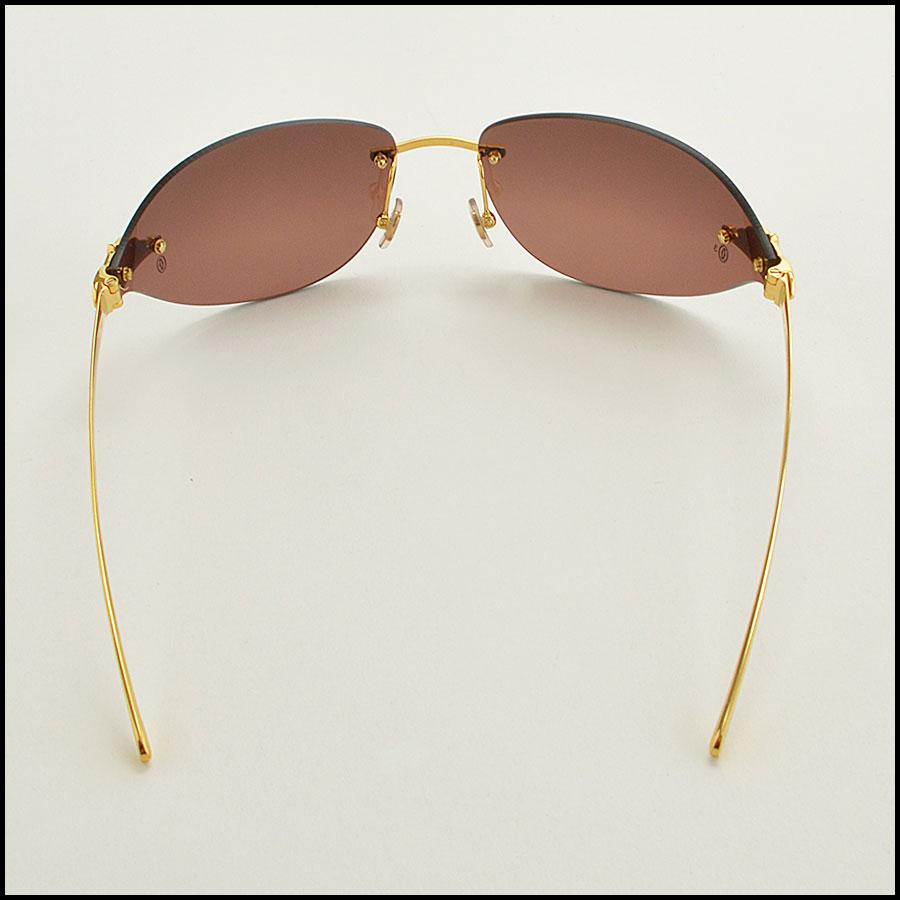 RDC 8386 Cartier Luxe Gold Panthere Sunglasses back