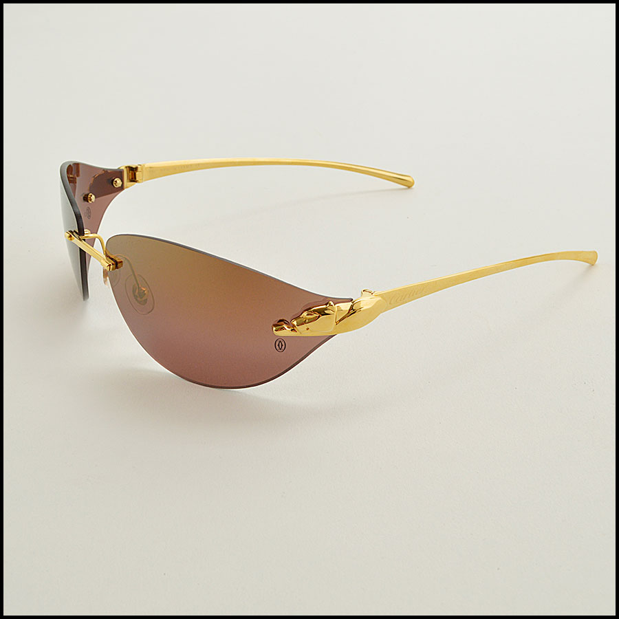 RDC 8386 Cartier Luxe Gold Panthere Sunglasses side