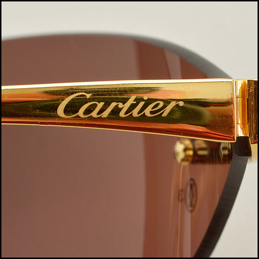 RDC 8386 Cartier Luxe Gold Panthere Sunglasses tag 2