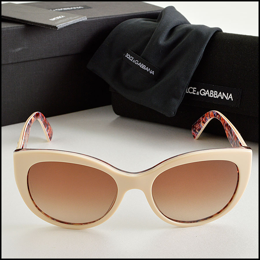 RDC8207 Dolce and Gabbana Cream and Floral Sunglasses