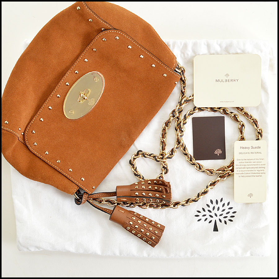 Mulberry Oak Suede Lily extras