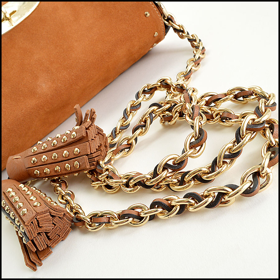 Mulberry Oak Suede Lily strap