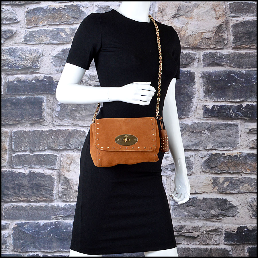 Mulberry Oak Suede Lily mannequin