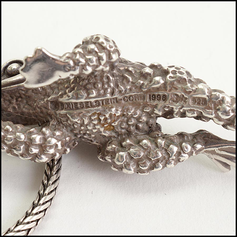 RDC11236 Barry Kieselstein-Cord Sterling Frog Pendant Necklace tag