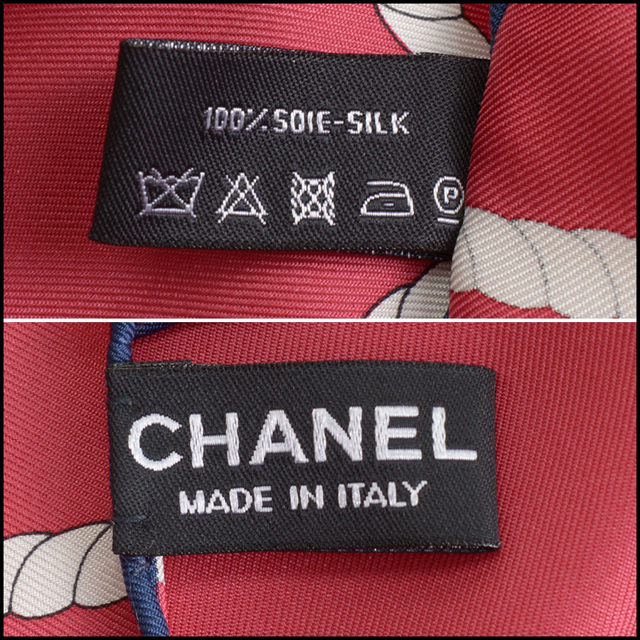 RDC10131 Chanel Red Lion Crest tag