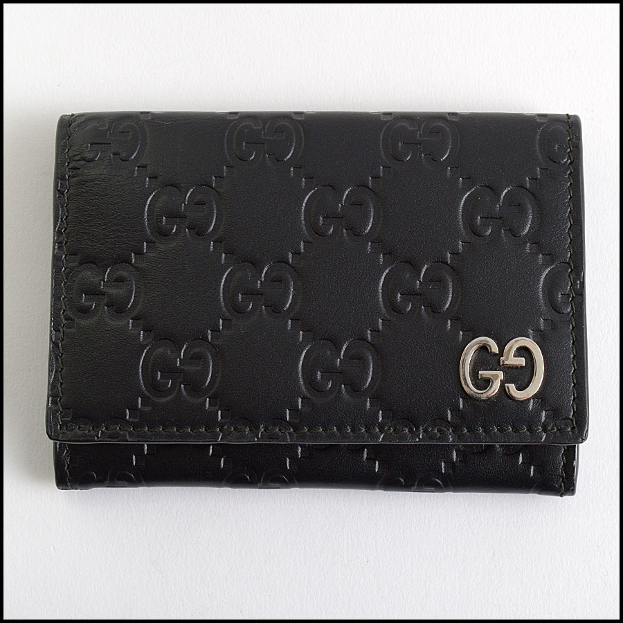 RDC10802 Gucci Black Leather Card Wallet