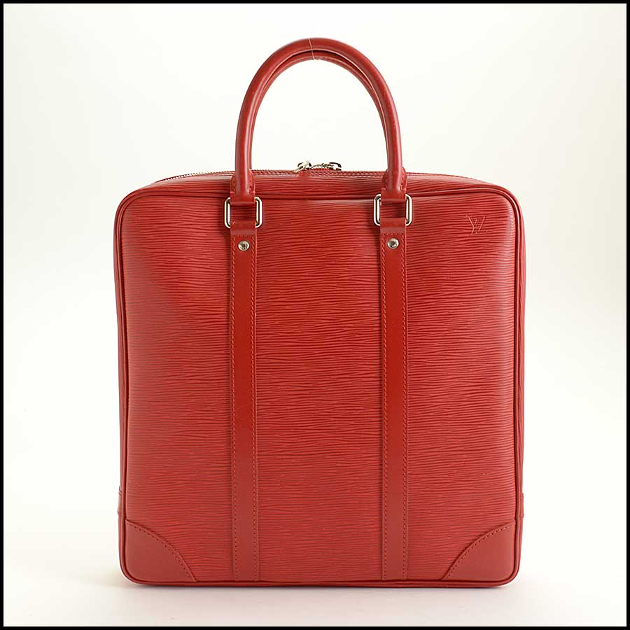 RDC11512 Louis Vuitton Red Epi Leather Tall Tote Bag