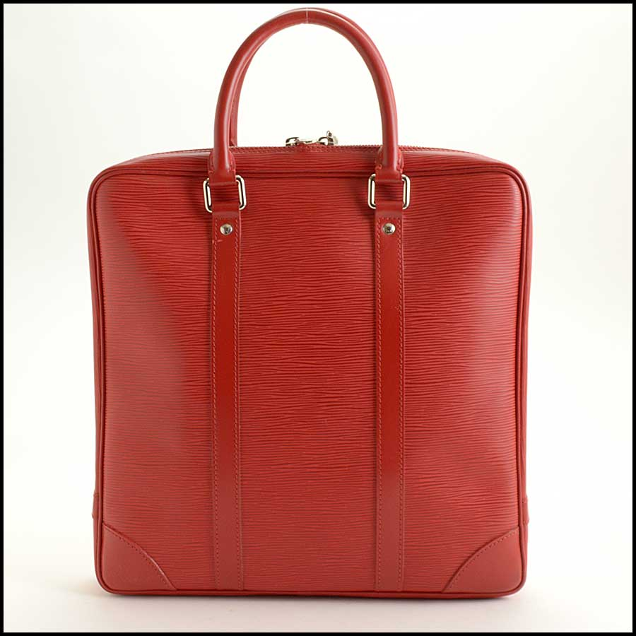 RDC11512 Louis Vuitton Red Epi Leather Tall Tote Bag back