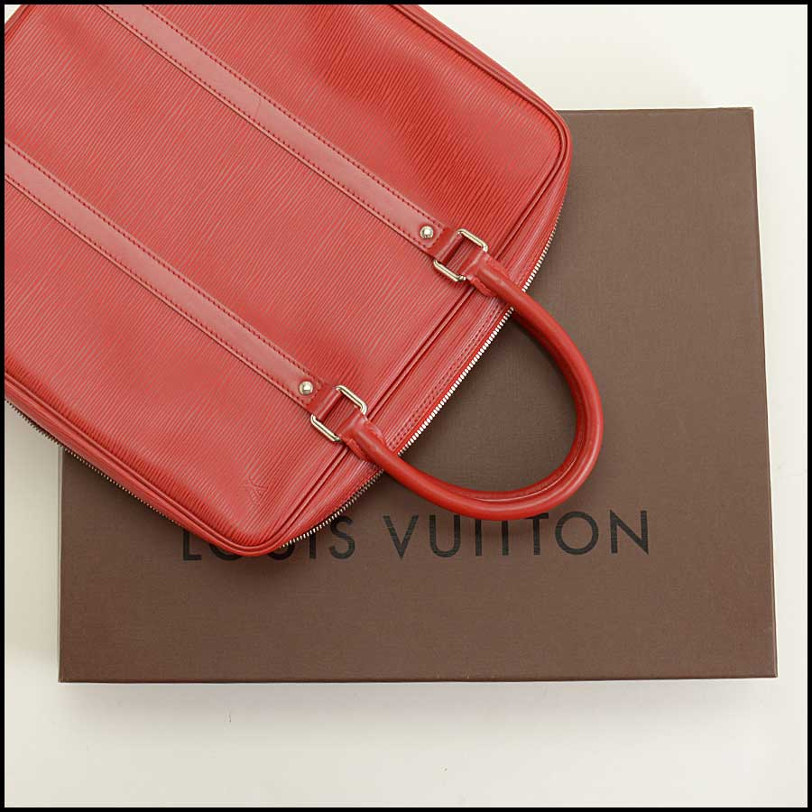 RDC11512 Louis Vuitton Red Epi Leather Tall Tote Bag includes