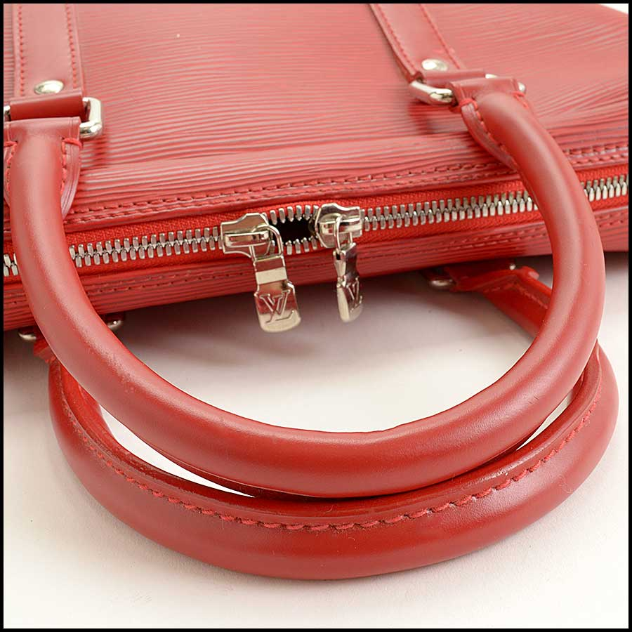 RDC11512 Louis Vuitton Red Epi Leather Tall Tote Bag handle