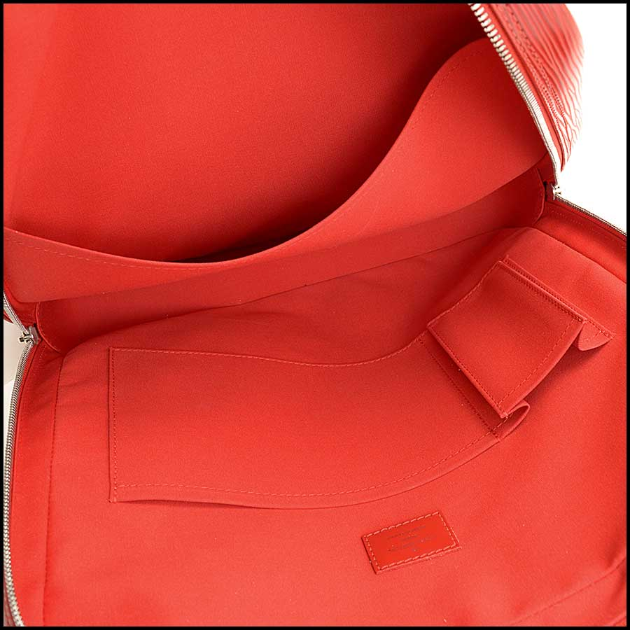 RDC11512 Louis Vuitton Red Epi Leather Tall Tote Bag inside