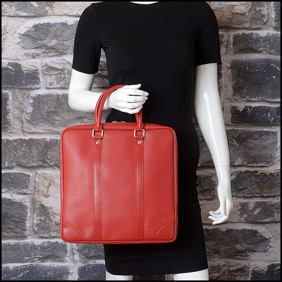 RDC11512 Louis Vuitton Red Epi Leather Tall Tote Bag model