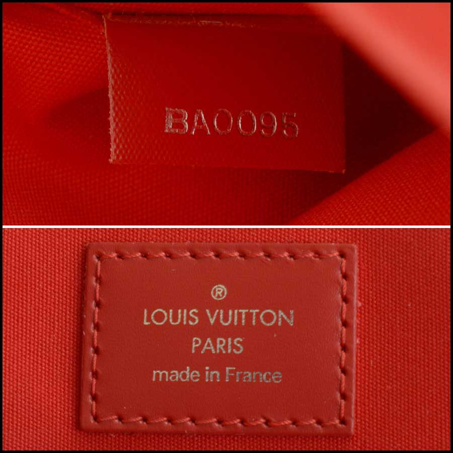 RDC11512 Louis Vuitton Red Epi Leather Tall Tote Bag tag