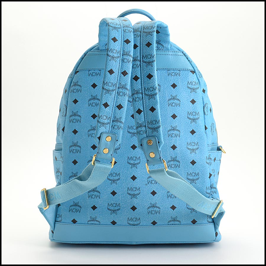 RDC11250 MCM Blue Backpack w/Pouch back