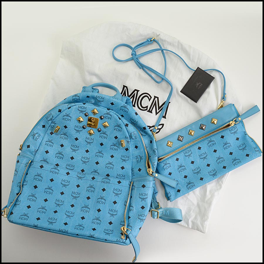RDC11250 MCM Blue Backpack w/Pouch includes