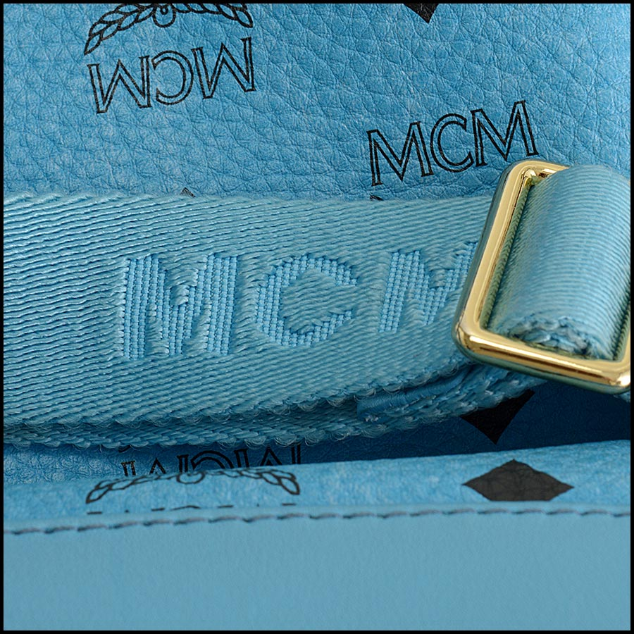 RDC11250 MCM Blue Backpack w/Pouch handle 1