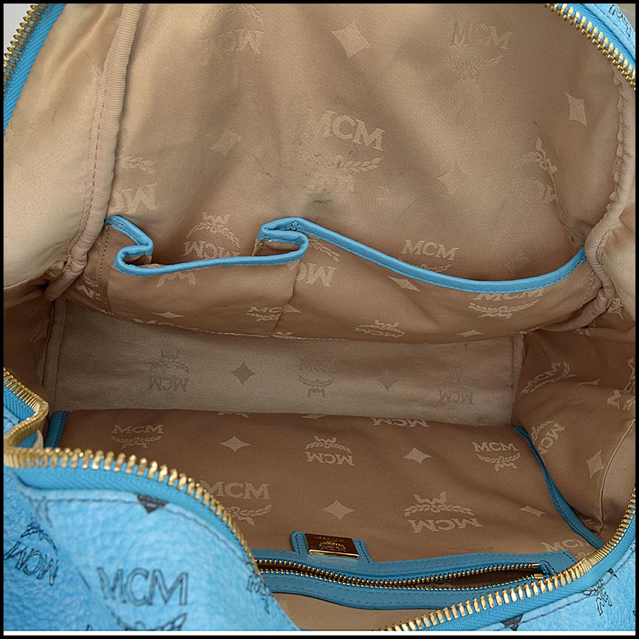 RDC11250 MCM Blue Backpack w/Pouch inside
