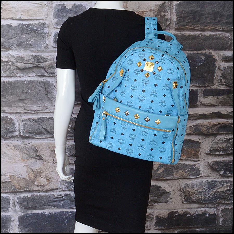 RDC11250 MCM Blue Backpack w/Pouch model