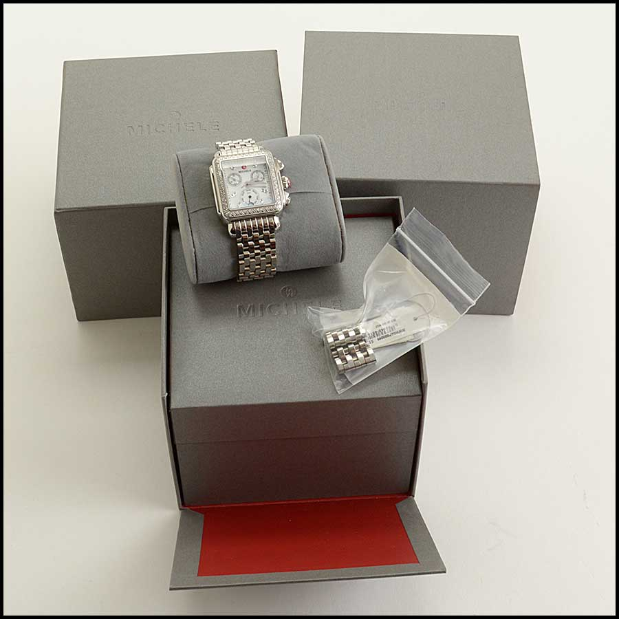 RDC11689 Michele Stainless Diamond Deco Watch includes