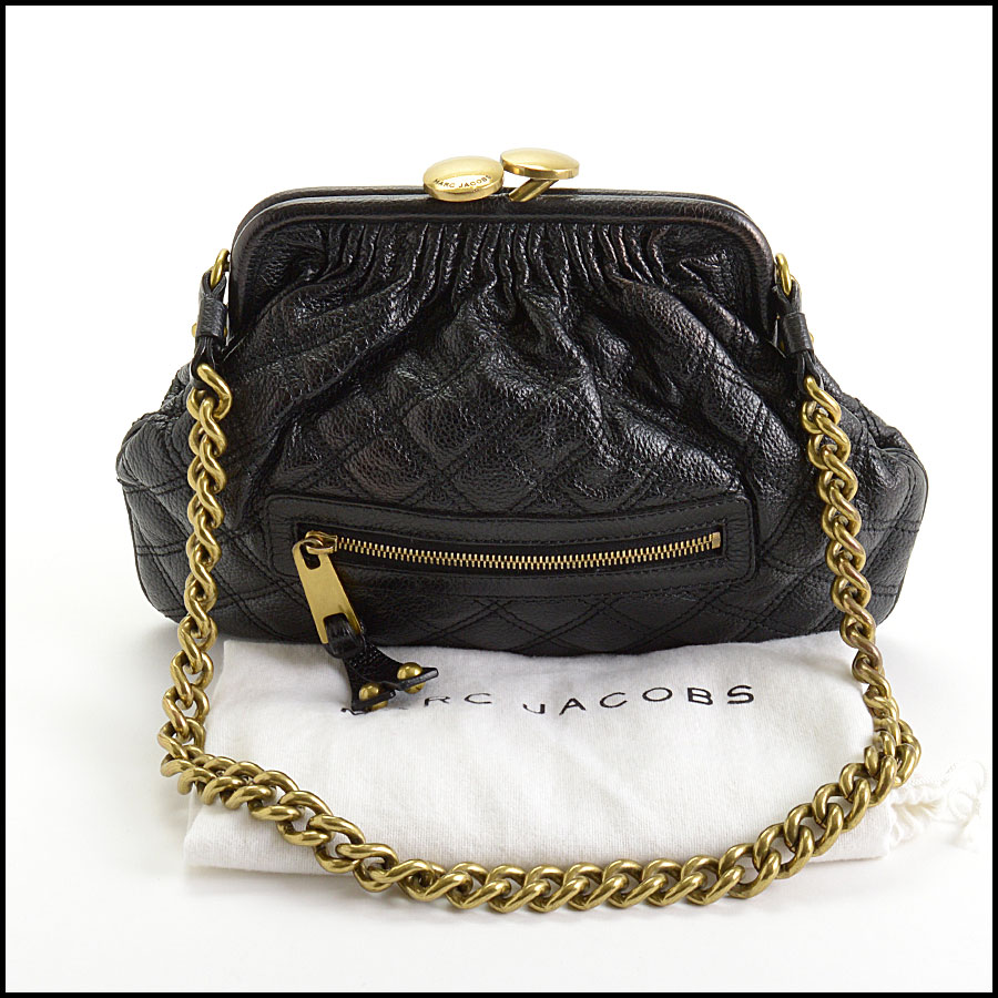 RDC10806 Marc Jacobs Black Quilted Mini Stam Bag tag 2