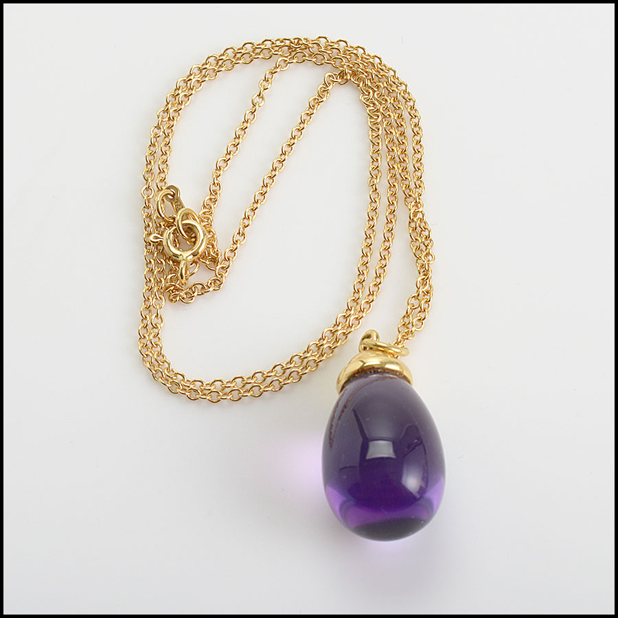 RDC10651 Tiffany & Co Paloma Picasso Gold/Amethyst Drop Necklace