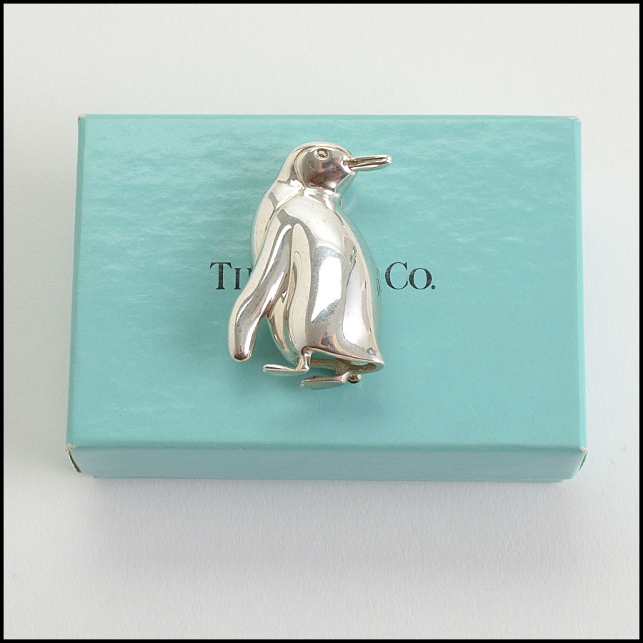 RDC10771 Tiffany & Co. Sterling Silver Penguin Brooch includes