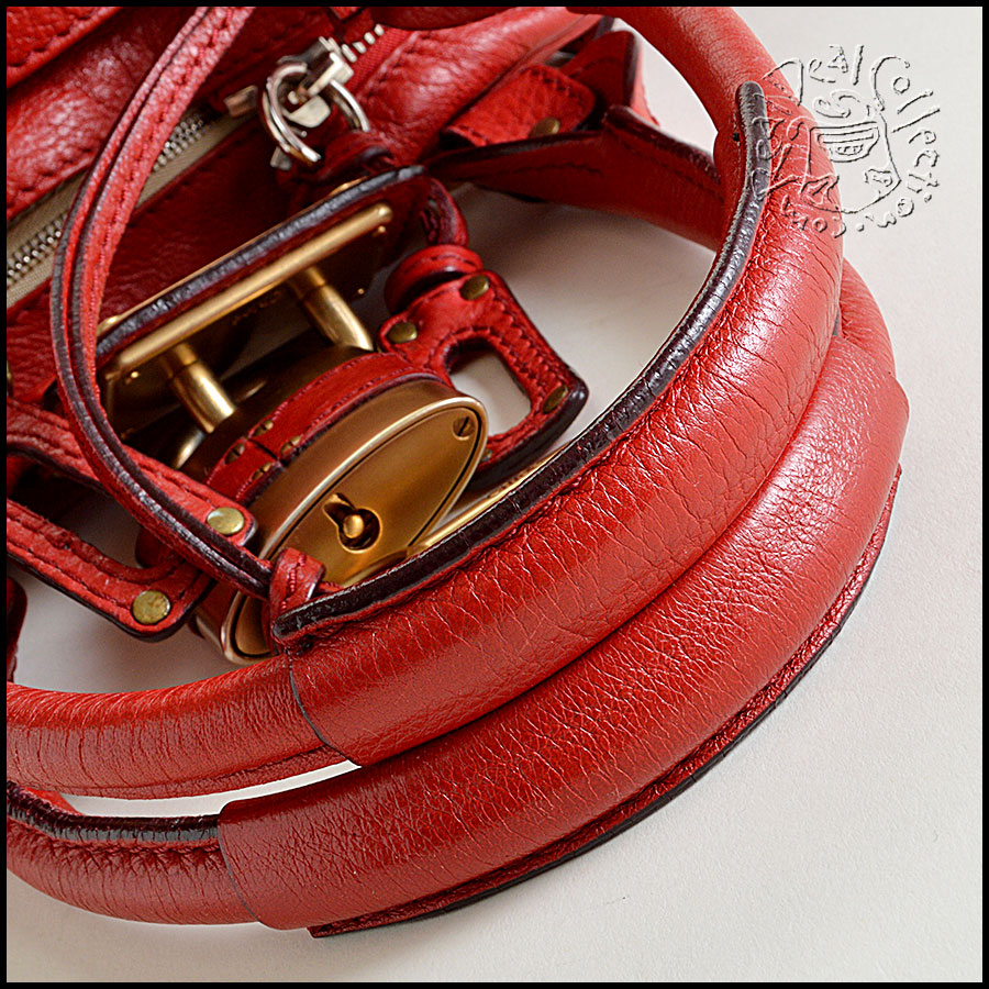 Chloe Red Handbag handles