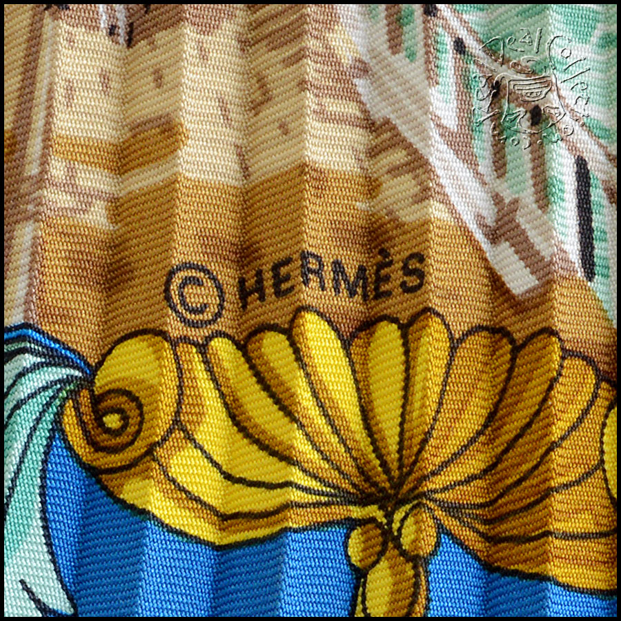 Hermes L'Entente Cordiale Pleated Scarf Tag2