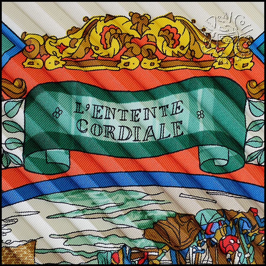 Hermes L'Entente Cordiale Pleated Scarf Title
