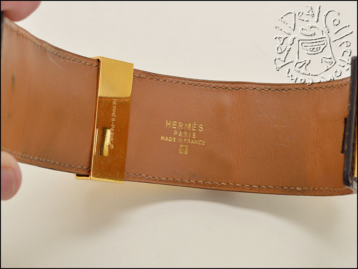 Hermes Alligator Collier CDC Inside