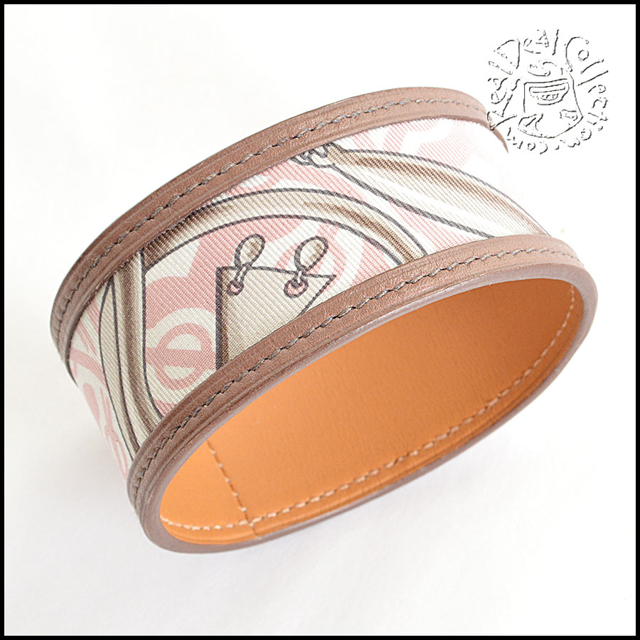 Hermes Petit H Leather Cuff closeup