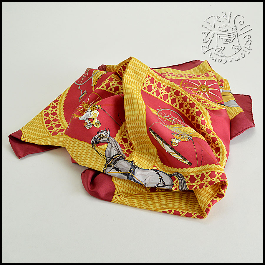 Hermes Voitures Paniers Scarf fold