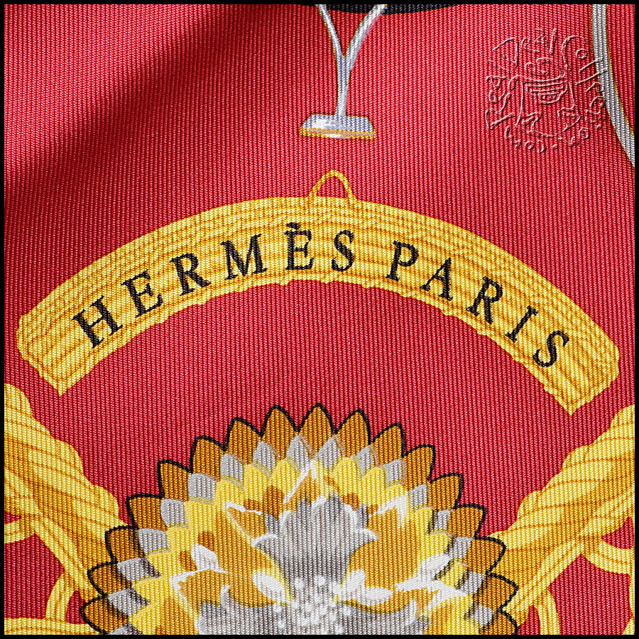 Hermes Voitures Paniers Scarf logo