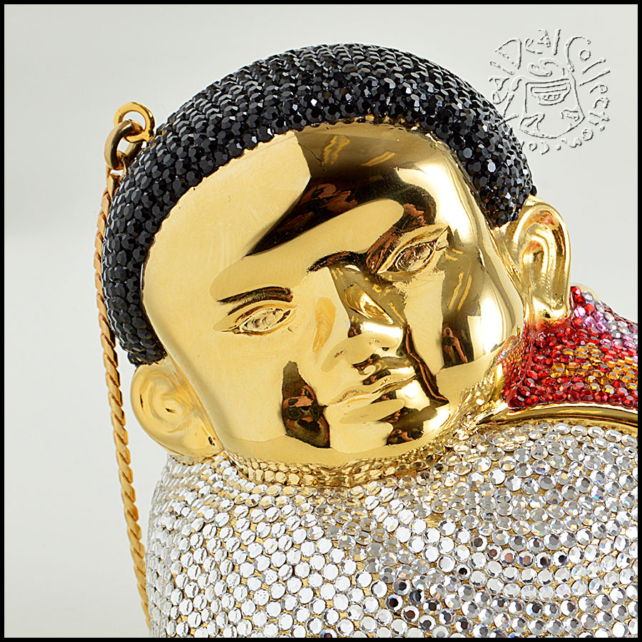 Judith Leiber Crystal Pillowboy close up
