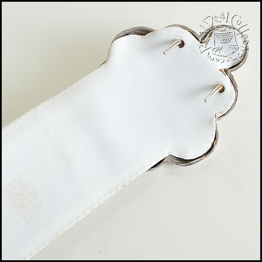 Judith Leiber Vintage White Leather Belt Back