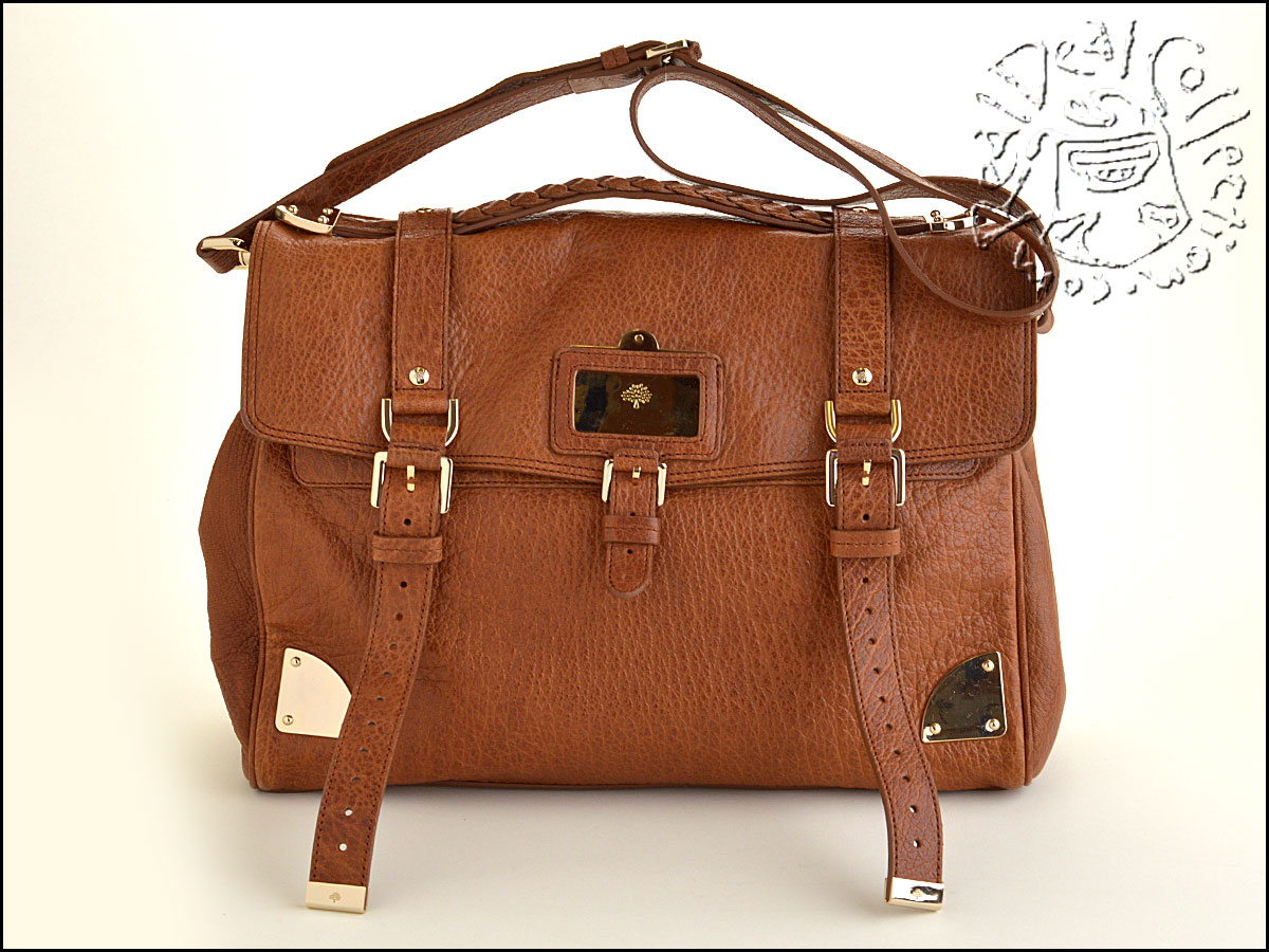Mulberry Brown Leather Travel Alexa Bag