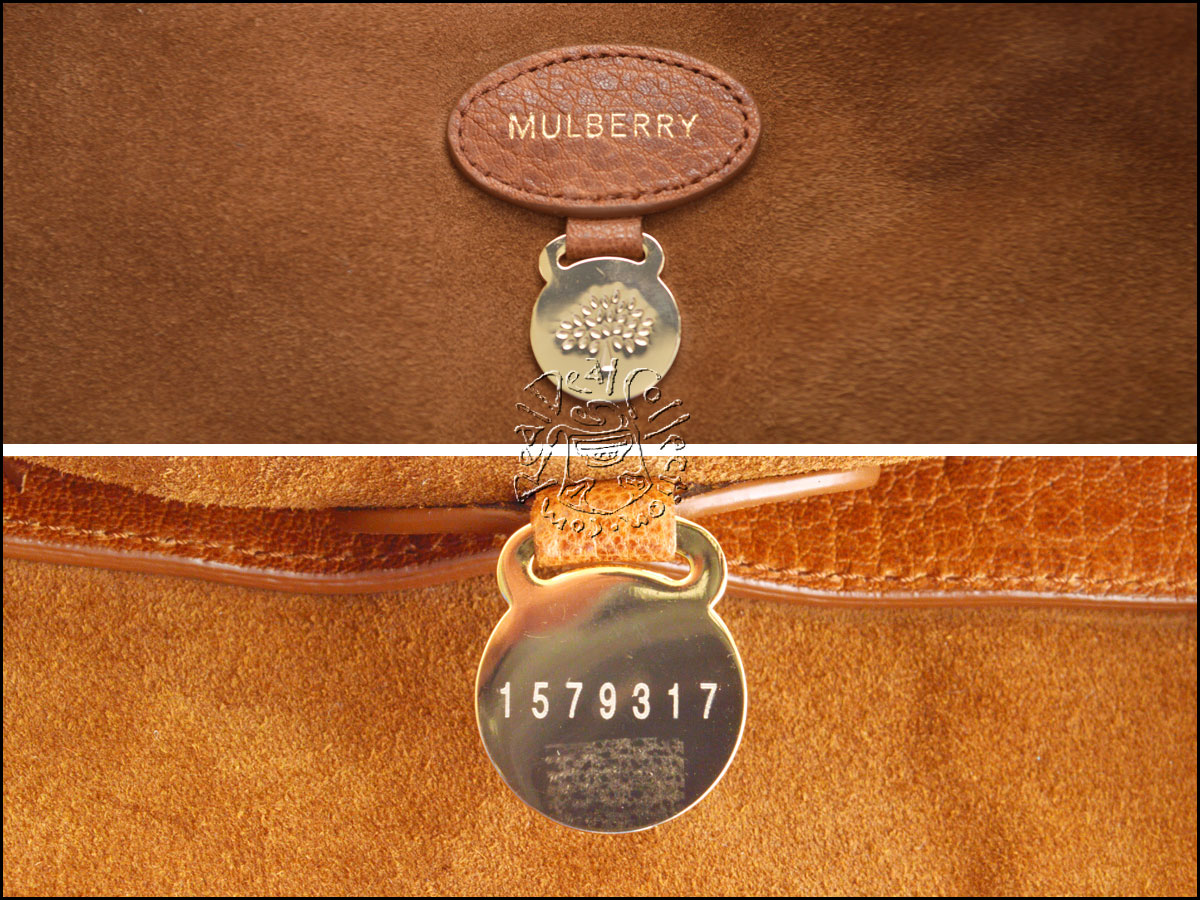 Mulberry Brown Leather OS Alexa Bag Branding