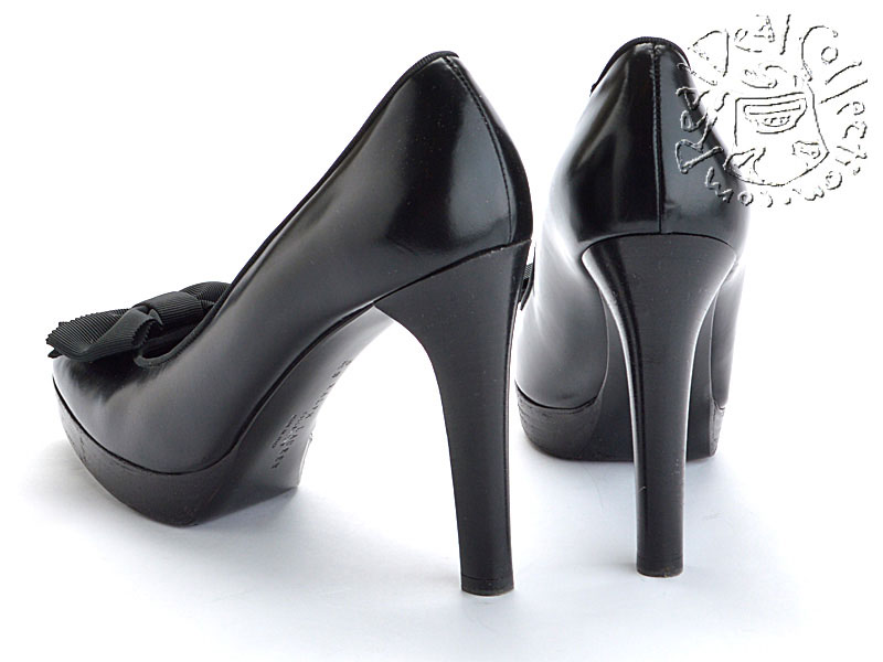 Ralph Lauren Black Platform Pumps Back