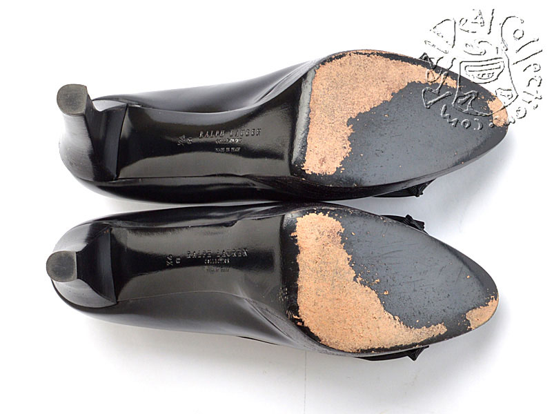 Ralph Lauren Black Platform Pumps Soles