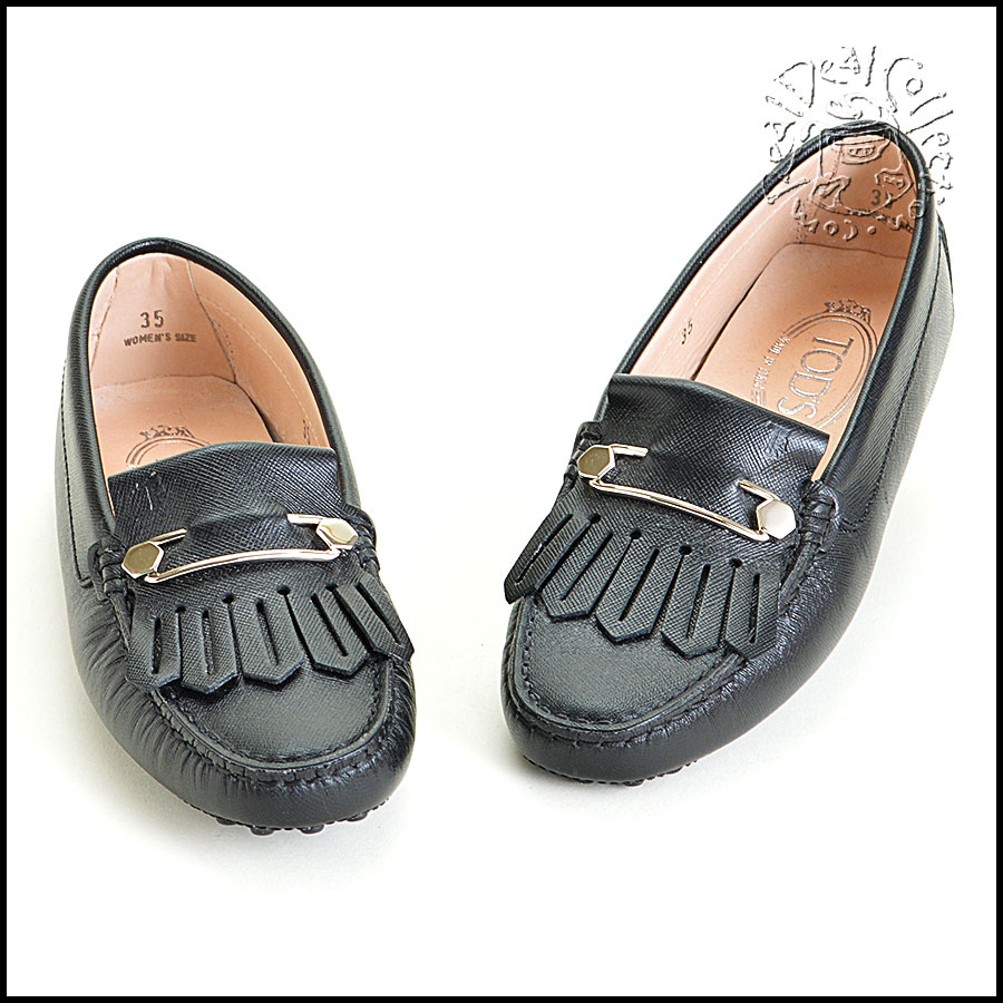 Tod's Heaven Frangia Spilla Leather Loafers