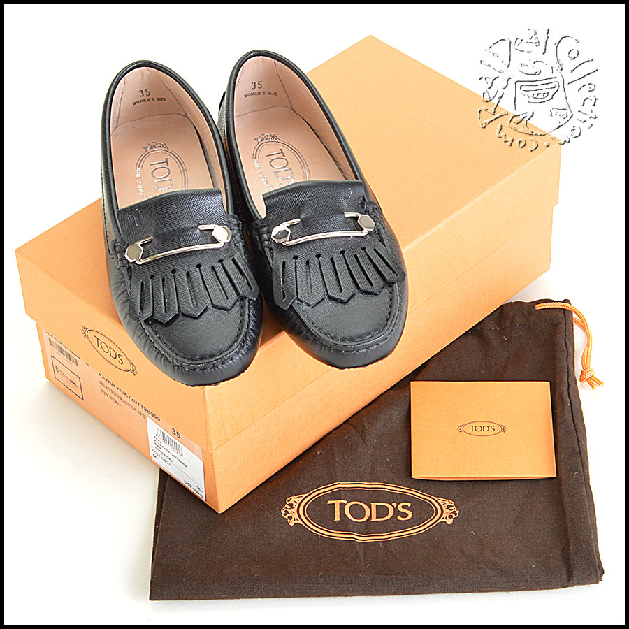Tod's Heaven Frangia Spilla Leather Loafers Comes with