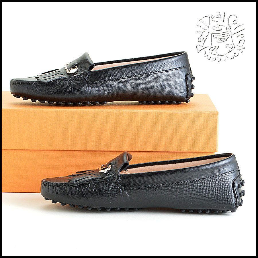 Tod's Heaven Frangia Spilla Leather Loafers Side