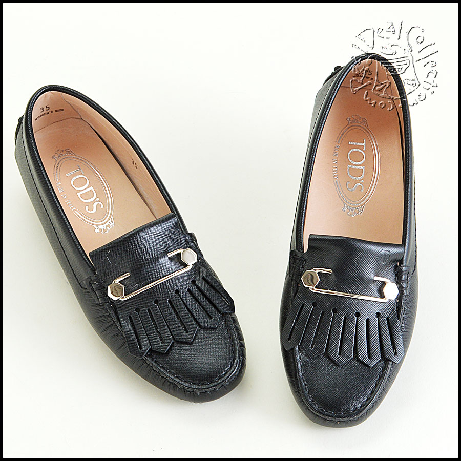 Tod's Heaven Frangia Spilla Leather Loafers Top