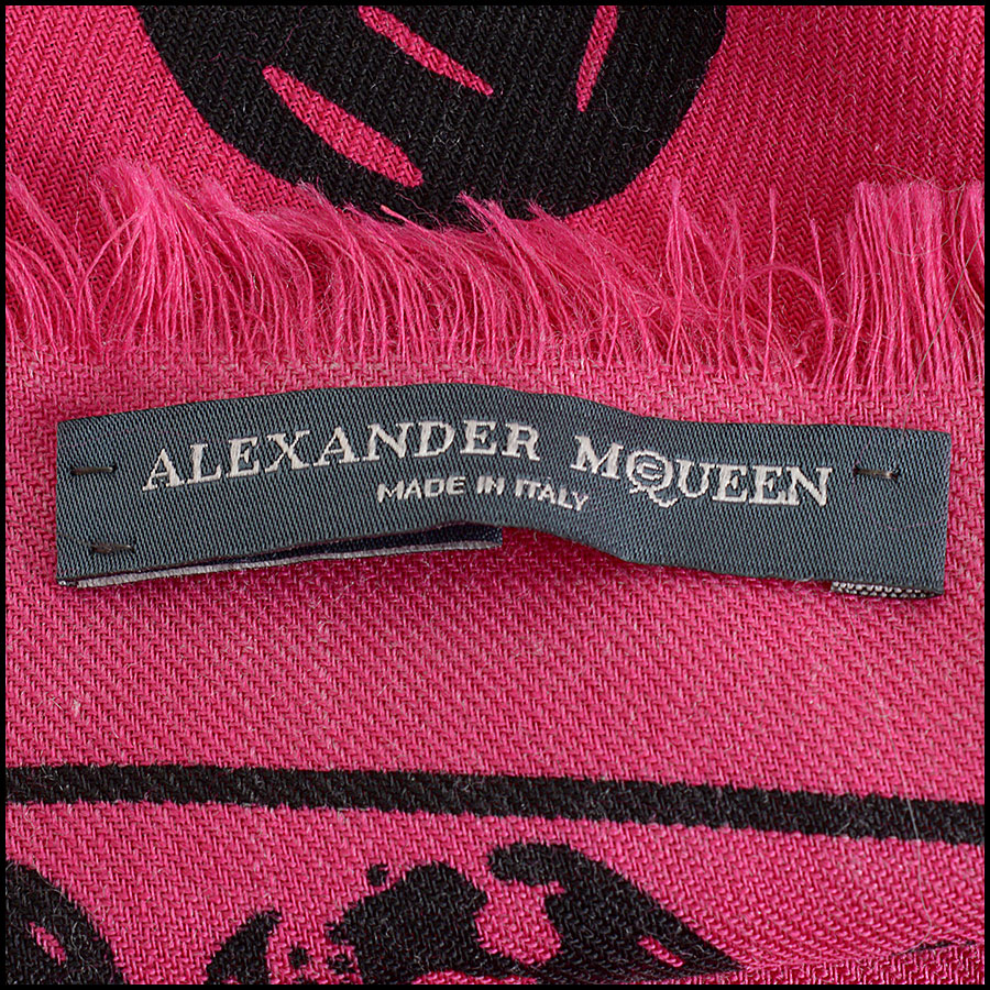 RDC9874 Pink/Black AM Scarf tag