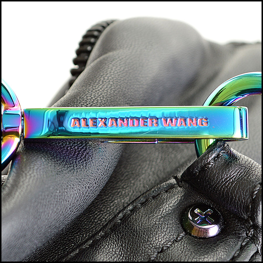 RDC7878 Alexander Wang black Eugene with iridescent HW tag one