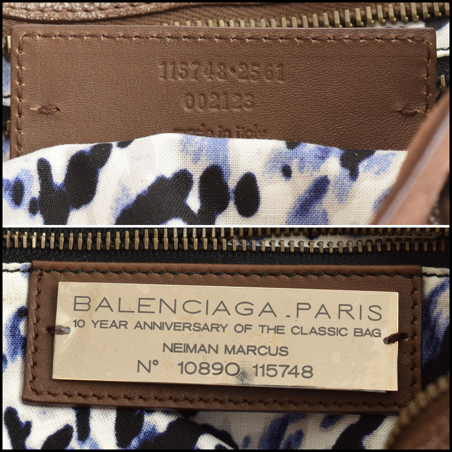 RDC9119 Balenciaga Bronze City tag