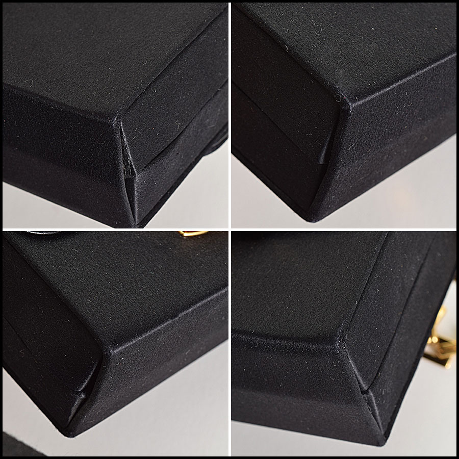RDC9327 Balenciaga Satin Evening Bag corners