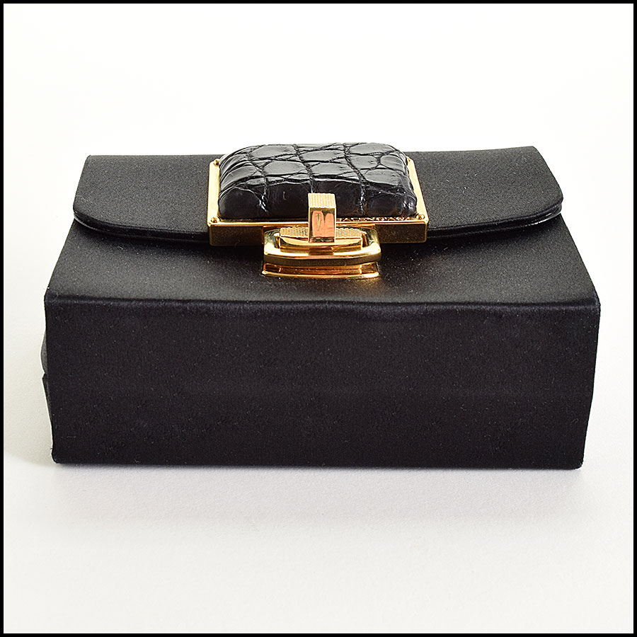 RDC9327 Balenciaga Satin Evening Bag bottom