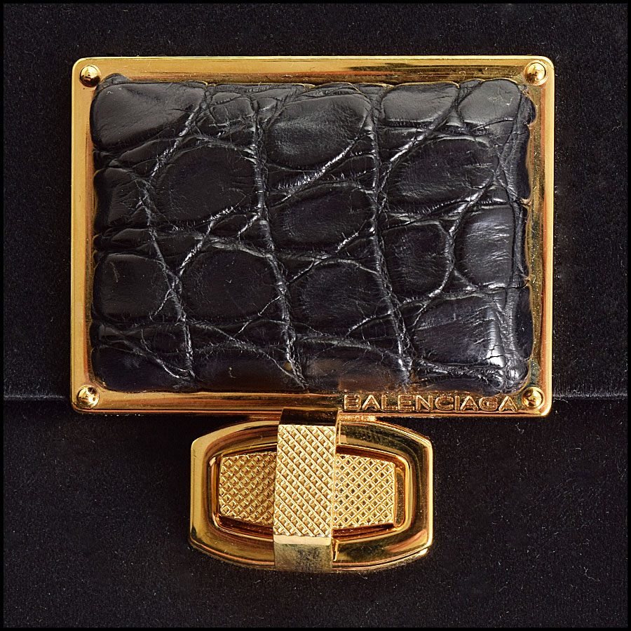 RDC9327 Balenciaga Satin Evening Bag close up